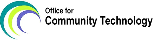 Office for Community Technology multi-colored logo